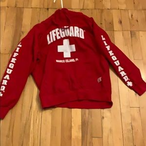Sweaters - Red Lifeguard hoodie